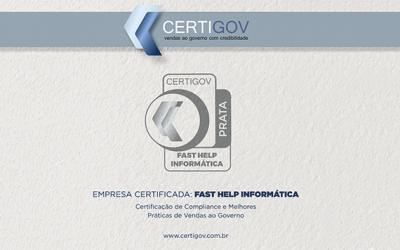 Conquistamos o certificado CertiGov na categoria Prata
